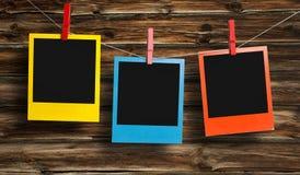 Polaroid di colore fotografia stock libera da diritti