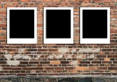Polaroid do molde das ilustrações do quadro da foto fotografia de stock royalty free
