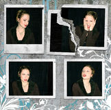polaroid för flickanoirfoto Royaltyfri Bild