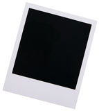 Polaroid film blank. Single high resolution old Polaroid film blank isolated on white background Stock Photos
