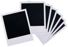 Polaroid film blanks stock image