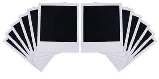 Polaroid film blanks Royalty Free Stock Image
