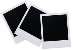 Polaroid film blanks. Isolated on white background Stock Image