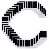 Polaroid film blanks letter C stock image