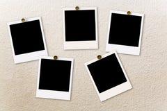 Polaroid films stock images