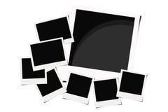 Polaroid films background. Polaroid instant films isolated on white background Royalty Free Stock Photos