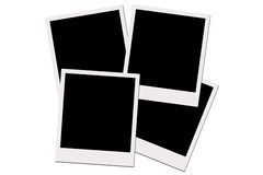 Polaroid Films (with clipping path) stock photos