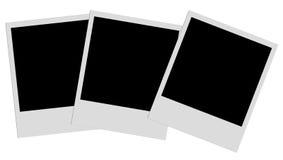 Polaroid Films. Series on white royalty free stock photos