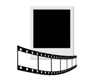 Polaroid and filmstrip Stock Photo