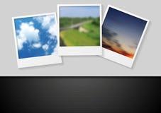 Polaroid- foto abstracte achtergrond Royalty-vrije Stock Foto