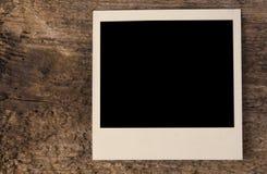 Polaroid- foto op houten dek Royalty-vrije Stock Afbeeldingen