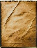 Polaroid- foto van oud document Stock Afbeeldingen