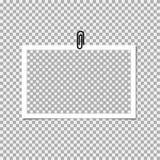 Polaroid- Fotokader met klem op grijze achtergrond Vectormalplaatje, spatie vector illustratie