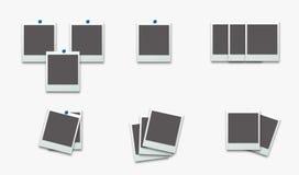 Polaroid- fotoram på vit bakgrund också vektor för coreldrawillustration Royaltyfria Bilder