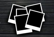 Polaroid- fotoramar med kopieringsutrymme för dina foto arkivbild