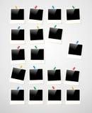 Polaroid- fotorambakgrund Royaltyfria Foton