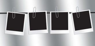 polaroid för filmram Fotografering för Bildbyråer