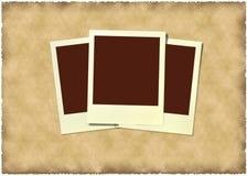 Polaroid- frame bij uitstekende achtergrond Royalty-vrije Stock Foto's