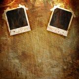 Polaroid frame on grunge Stock Photos
