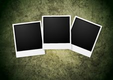 Polaroid frame on grunge wall background Stock Images