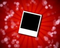 Polaroid frame on a red background Stock Photos
