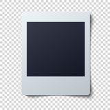 Polaroid frame vector illustration . Single instant photo with black space for image Stock Photography
