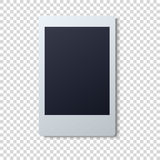 Polaroid frame vector illustration . Single instant photo with black space for image Royalty Free Stock Photos