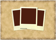 Polaroid frame at vintage  background Royalty Free Stock Photos