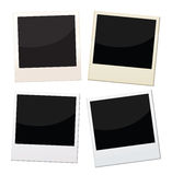 Polaroid frames. 4 pieces of polaroid with different conditions Royalty Free Stock Image
