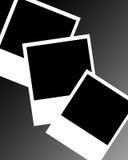 Polaroid frames. Collection of polaroid frames on background Royalty Free Stock Photos