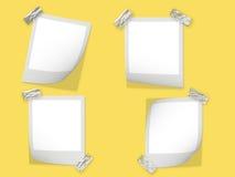 Polaroid frames stock illustration