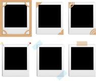 Polaroid frames vector illustration
