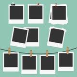 Polaroid frames set royalty free illustration
