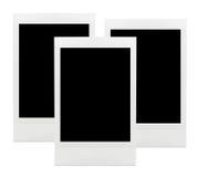 Polaroid Frames Isolated. Polaroid photo frames isolated on white background three object Royalty Free Stock Photos