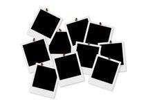 Polaroid Frames & Thumbtacks Stock Image
