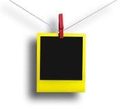 Polaroid gialla fotografia stock libera da diritti