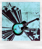 Polaroid gibson. Vintage polaroid frame and electric guitar gibson Royalty Free Stock Images