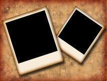 Polaroid grunge. Polaroid frames over grunge background Stock Images