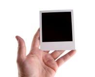 Polaroid hand royalty free stock photos
