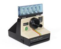 Polaroid Hintergrund Weiß sofortigen der Kamera der Weinlese-1000SE Stockfotos