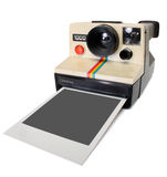 Polaroid instant camera. With clipping path Stock Photo