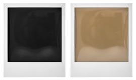 polaroid instant photo frame on white stock photo