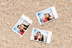 Polaroid Instant Photos Of Young Couple Stock Image