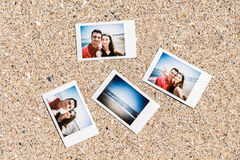 Polaroid Instant Photos Of Young Couple Royalty Free Stock Photography