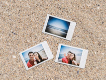 Polaroid Instant Photos Of Young Couple Royalty Free Stock Photos
