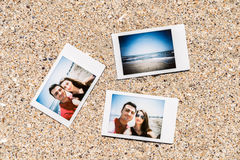 Polaroid Instant Photos Of Young Couple Royalty Free Stock Image