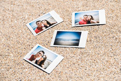 Polaroid Instant Photos Of Young Couple Royalty Free Stock Photo