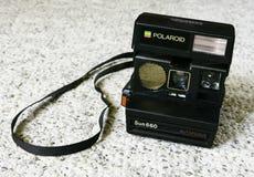 Polaroid- kamera för sol 660 royaltyfri bild