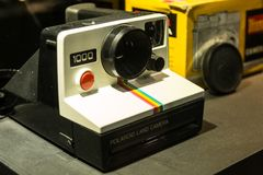 Polaroid Land Camera classic instant camera Royalty Free Stock Images