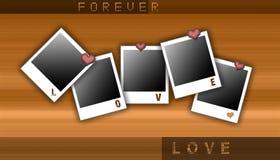 polaroid liefde stock illustratie